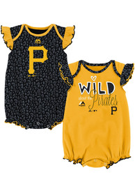 Pittsburgh Pirates Baby Black Team Sparkle One Piece