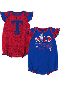 Texas Rangers Baby Red Team Sparkle One Piece