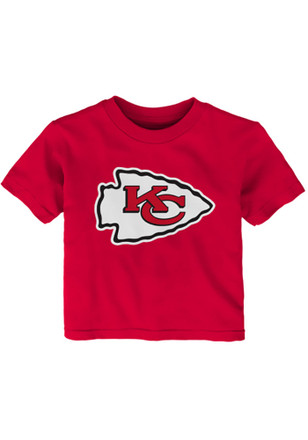 Kansas City Chiefs Red Primary Logo Short Sleeve T-Shirt