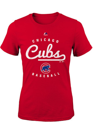 Chicago Cubs Girls Red Promoter T-Shirt