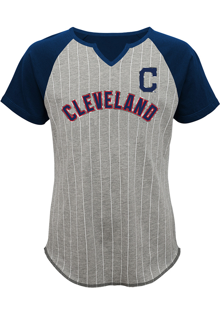 Cleveland Indians Girls Grey From the Stretch Short Sleeve Tee 13345082