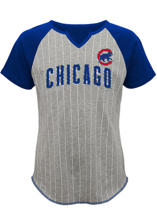 Chicago Cubs Girls Grey From the Stretch T-Shirt