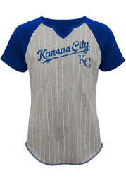 Kansas City Royals Girls Grey From the Stretch T-Shirt