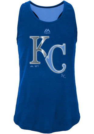 Kansas City Royals Girls Blue Stadium Graphic Tank Top
