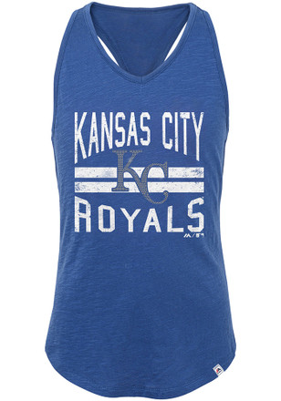 Kansas City Royals Girls Blue Four Seamer Tank Top