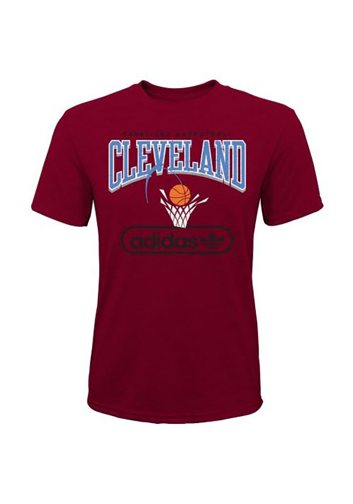 Cleveland Cavaliers Youth Red Pointed Short Sleeve Fashion T-Shirt - Image 1
