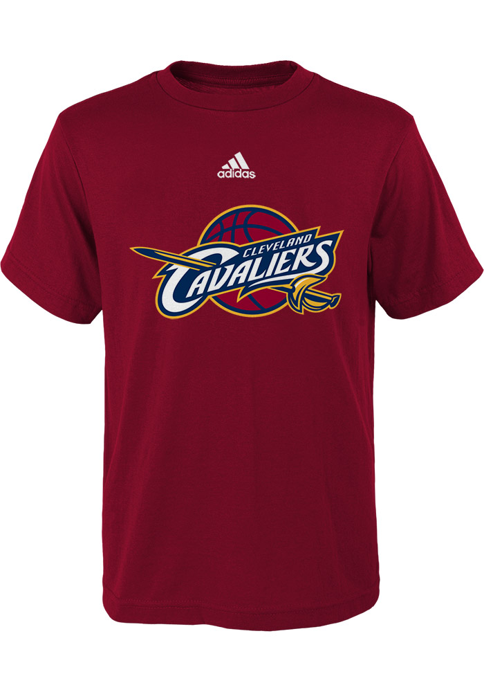 Cleveland cavaliers youth red logo short sleeve t shirt for Cleveland t shirt printing