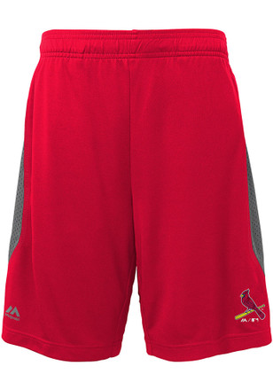 St Louis Cardinals Boys Red Excitement Shorts