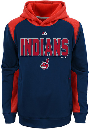 Cleveland Indians Boys Navy Blue Geo Fuse Hoodie