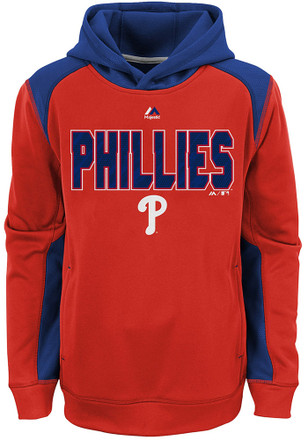 Phillies Boys Red Geo Fuse Hoodie
