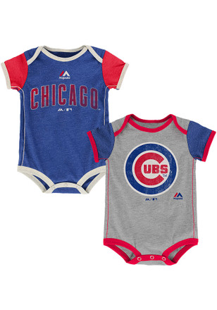 Chicago Cubs Baby Blue Vintage Creeper