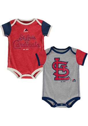 St Louis Cardinals Baby Red Vintage Creeper