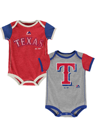 Texas Rangers Baby Red Vintage Creeper