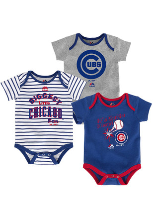 Chicago Cubs Baby Blue Homerun Creeper