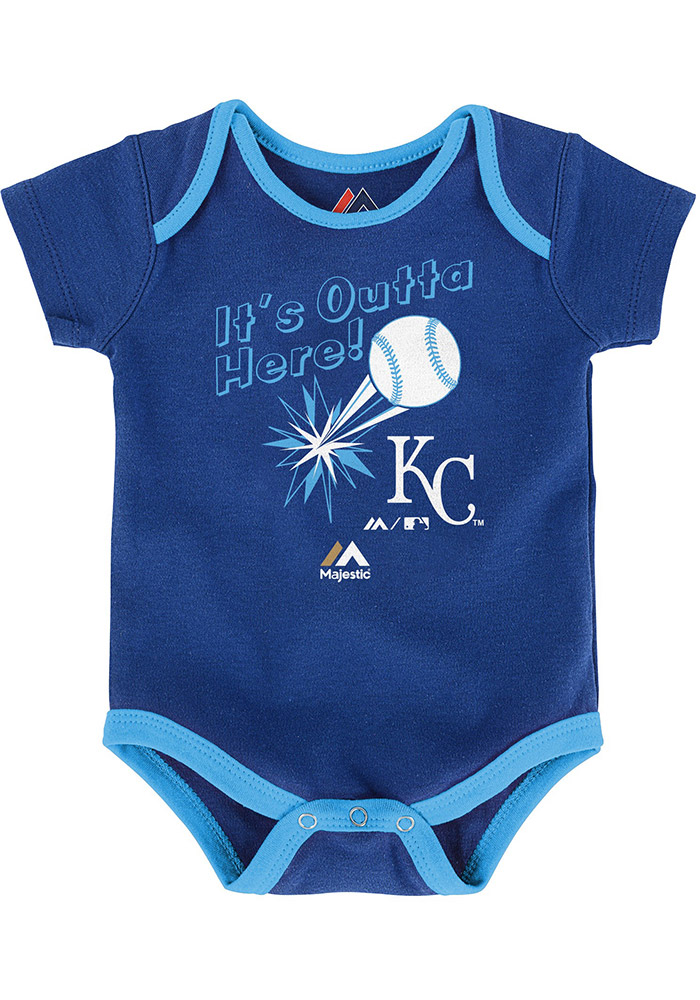 Kansas City Royals Baby Blue Homerun Creeper - Image 2
