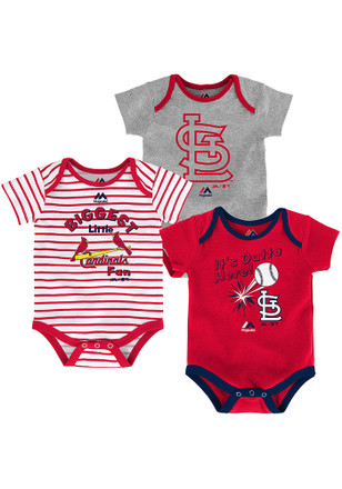 St Louis Cardinals Baby Red Homerun Creeper