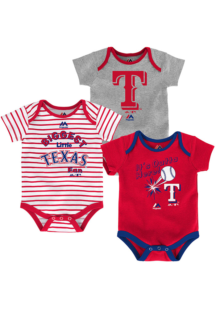 Texas Rangers Baby Red Homerun Creeper 13345149