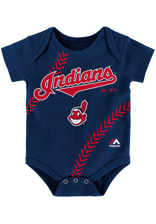 Cleveland Indians Baby Navy Blue Fan-Atic Creeper