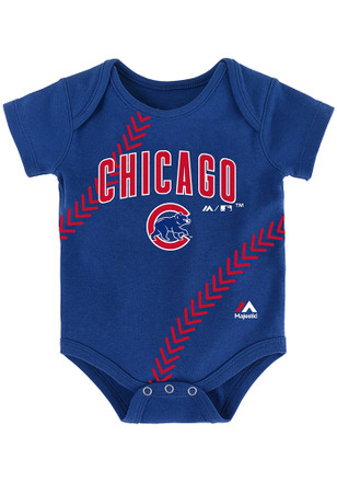 Chicago Cubs Baby Blue Fan-Atic Creeper