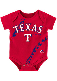 Texas Rangers Baby Red Fan-Atic One Piece