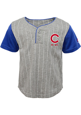 Chicago Cubs Toddler Grey Batter Up Top and Bottom