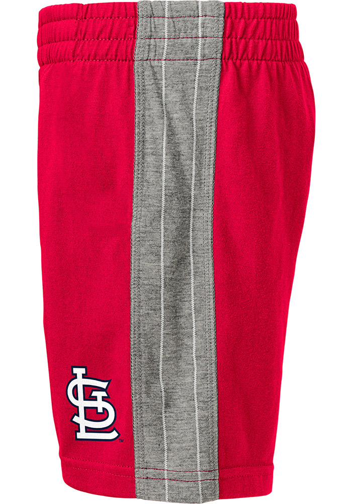 St Louis Cardinals Toddler Grey Batter Up Set Top and Bottom - Image 2