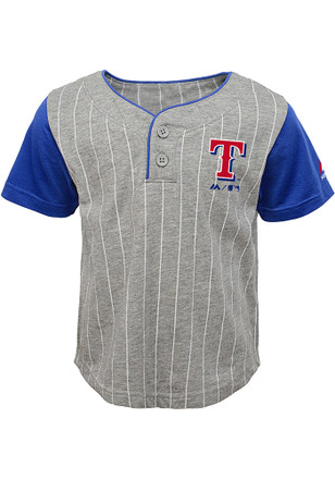 Texas Rangers Toddler Grey Batter Up Top and Bottom