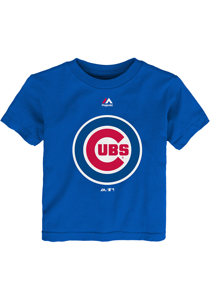 Chicago Cubs Toddler Blue Primary Short Sleeve T-Shirt - Image 1