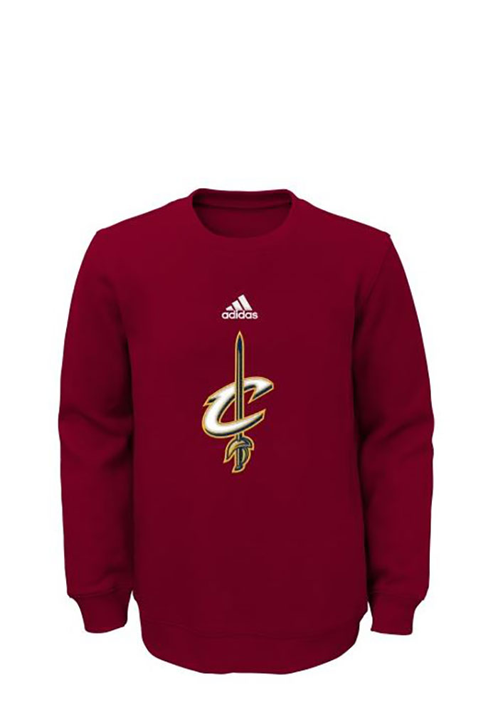 Cleveland Cavaliers Boys Red Prime Long Sleeve Crew Sweatshirt - Image 1
