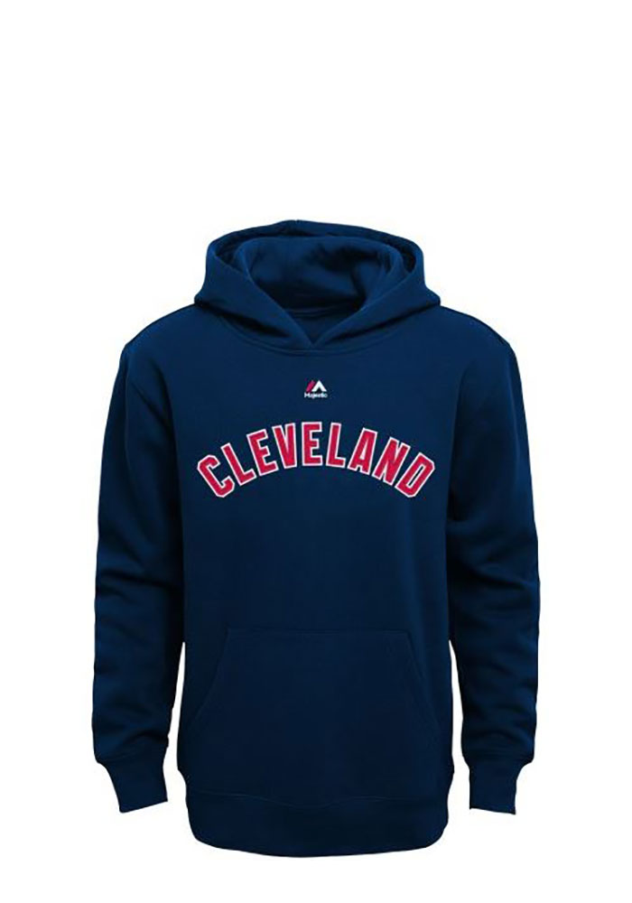 Cleveland Indians Kids Navy Blue Twill Long Sleeve Hoodie 13345200