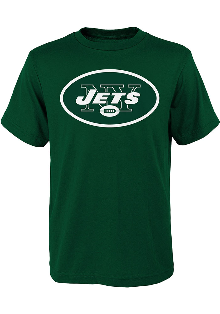 New York Jets Youth Green Primary Logo Short Sleeve T-Shirt - Image 1