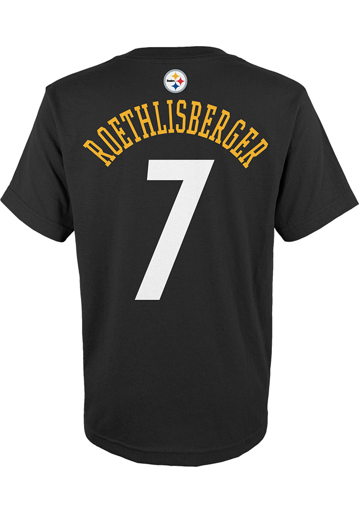 Ben Roethlisberger Outer Stuff Pittsburgh Steelers Youth Name and Number  Black Player Tee 78f34e865