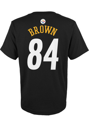 d14c81bb0 ... Antonio Brown Outer Stuff Pittsburgh Steelers Kids Name and Number  Black Player Tee ...