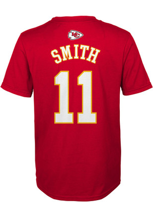 Alex Smith Kansas City Chiefs Boys Red Name and Number T-Shirt