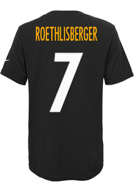 Ben Roethlisberger Pittsburgh Steelers Boys Outer Stuff Player T-Shirt - Black