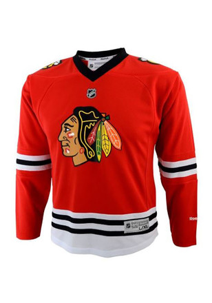 Chicago Blackhawks Kids Red Home Replica Jersey