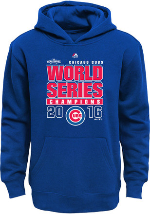 Chicago Cubs Kids Blue Champs Hooded Sweatshirt