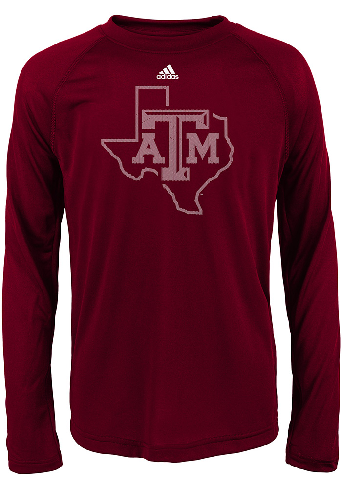 Texas A&M Aggies Youth Maroon Linear Play Logo Long Sleeve T-Shirt - Image 1