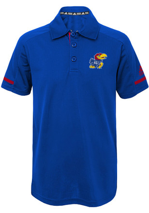 Kansas Jayhawks Kids Blue Premium Polo