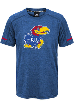 Kansas Jayhawks Kids Blue Printed Training T-Shirt