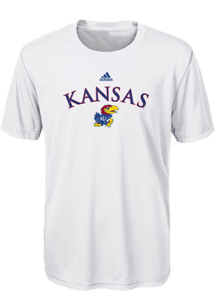 Kansas Jayhawks Kids White Sideline Split T-Shirt