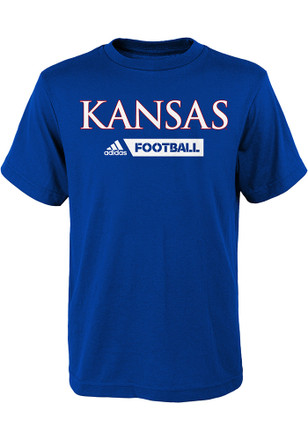 Kansas Jayhawks Kids Blue Gridiron T-Shirt
