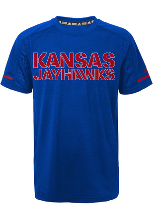 Kansas Jayhawks Boys Blue Training T-Shirt