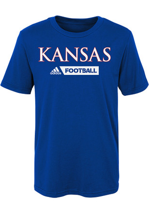 Kansas Jayhawks Boys Blue Gridiron T-Shirt