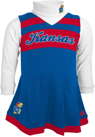 Kansas Jayhawks Toddler Girls Blue Cheer Jumper Cheer