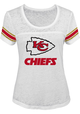 Kansas City Chiefs Womens White Out White Scoop T-Shirt