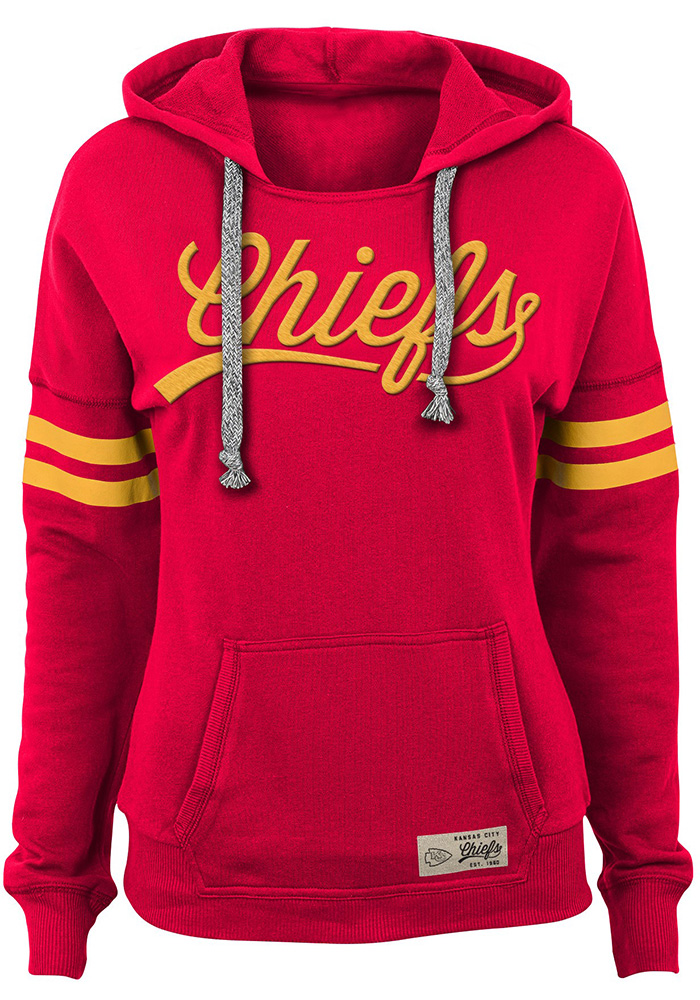 Kansas City Chiefs Juniors Red Varsity Pullover Hooded Sweatshirt, Red, 60% COTTON/ 40 POLYESTER, Size S