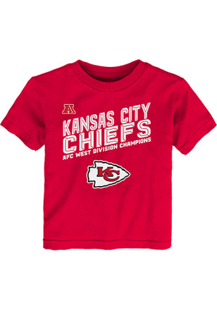 Kansas City Chiefs Kids Red 2016 Division Champions T-Shirt