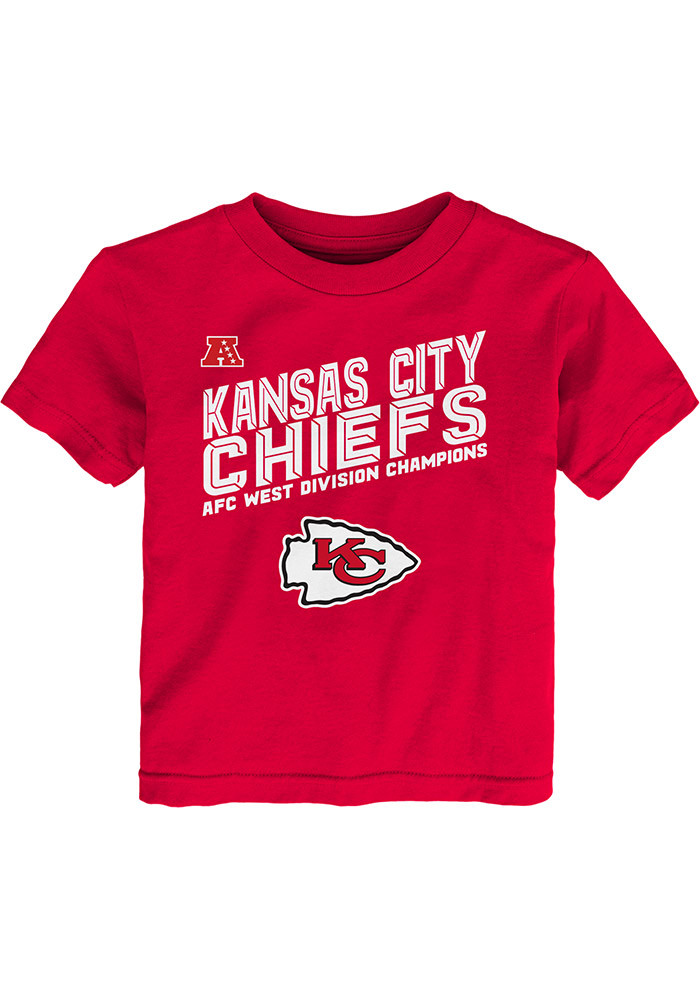 Kansas City Chiefs Youth Red 2016 Division Champions Short Sleeve T-Shirt - Image 1
