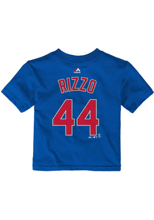 Anthony Rizzo Chicago Cubs Outer Stuff Blue Name and number Short Sleeve T-Shirt